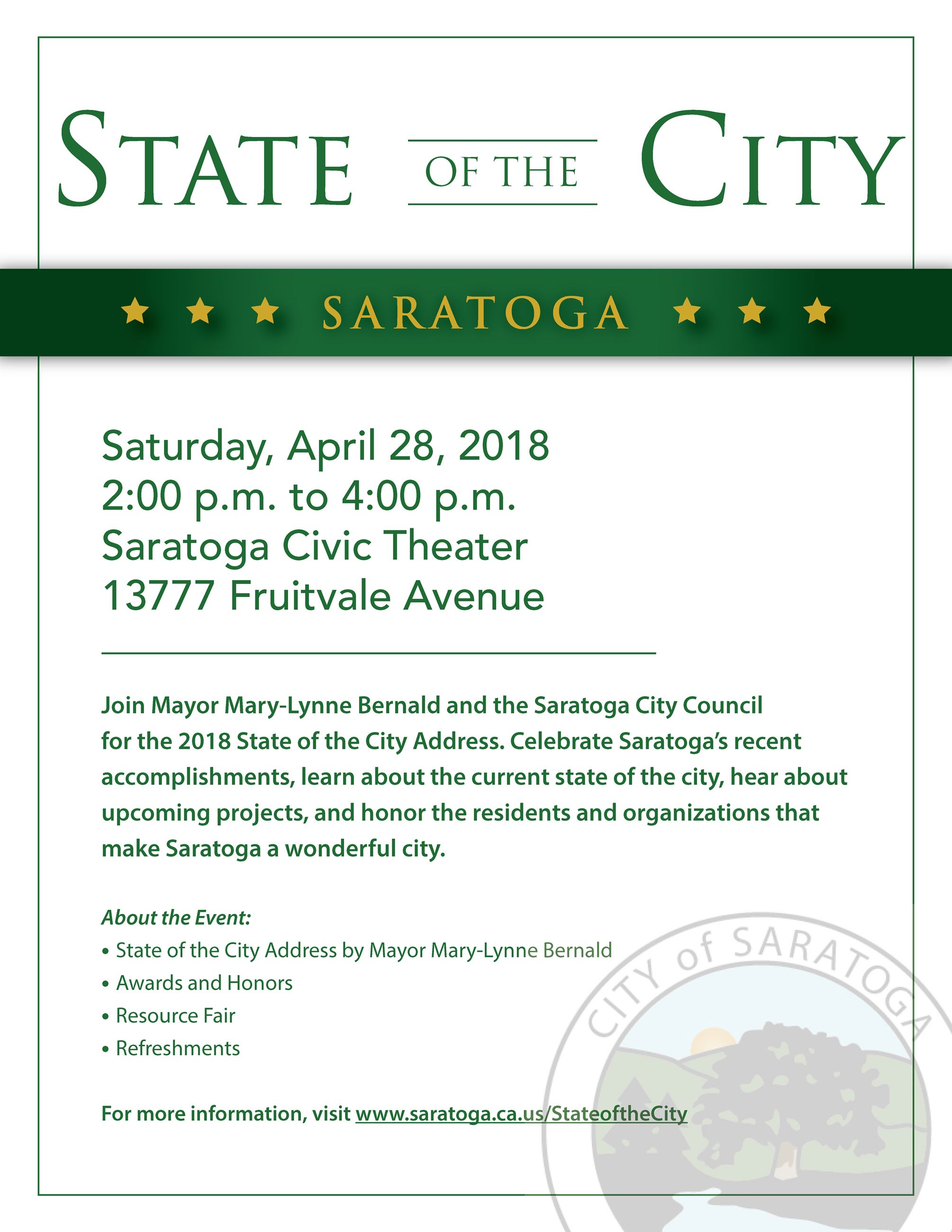 2018 State of the City Flyer