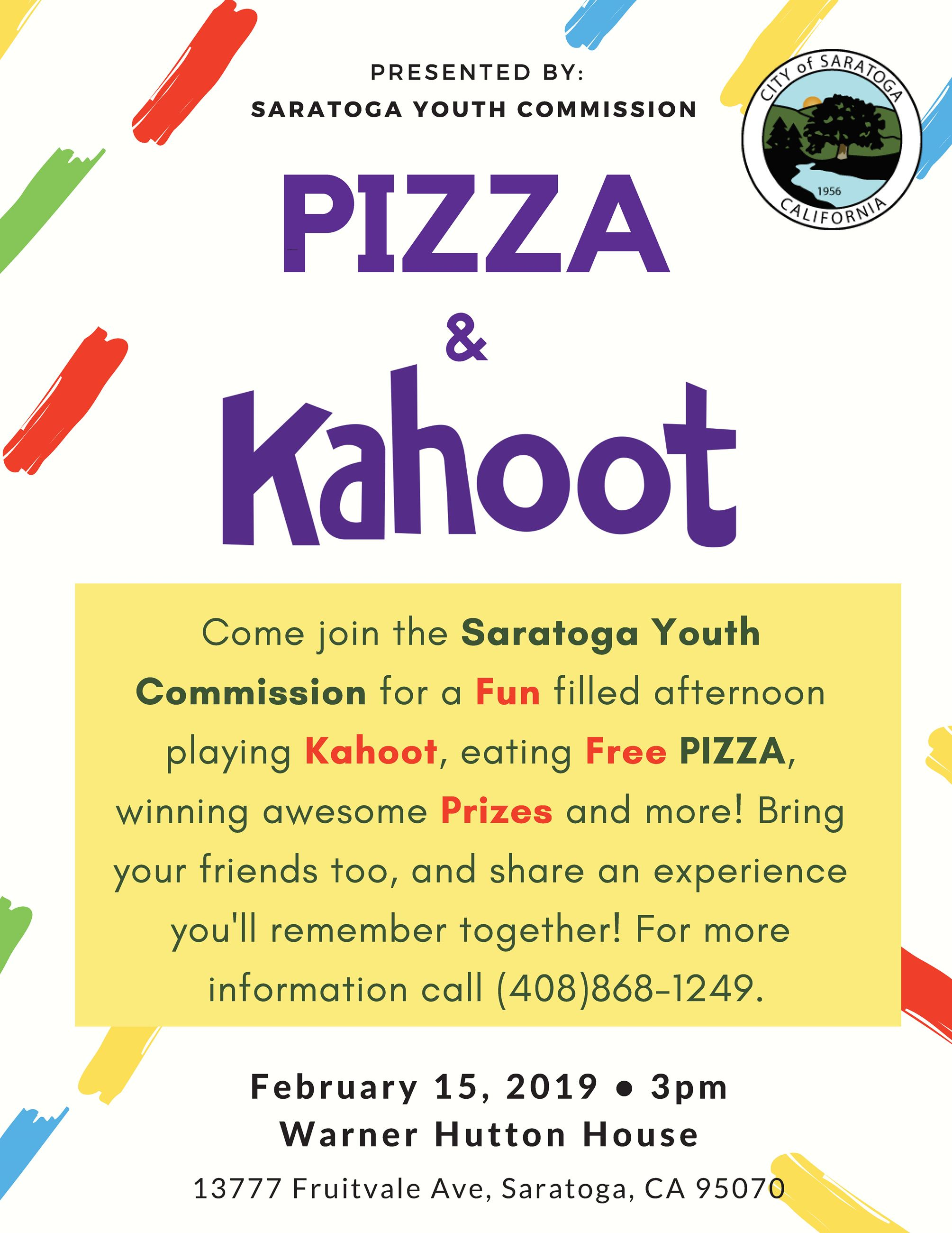 Youth Commission Pizza and Kahoot