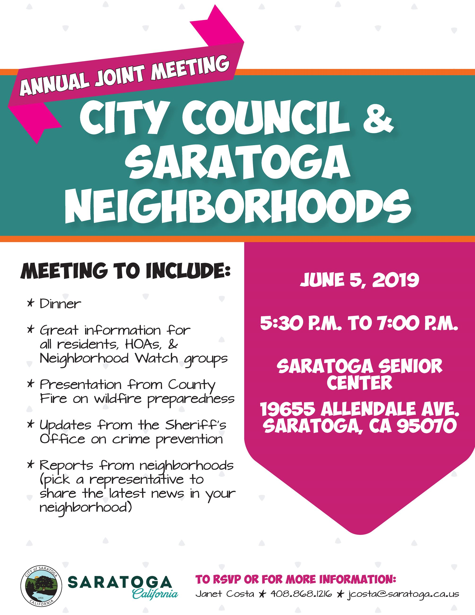 2019 Neighborhoods Joint Meeting Flyer