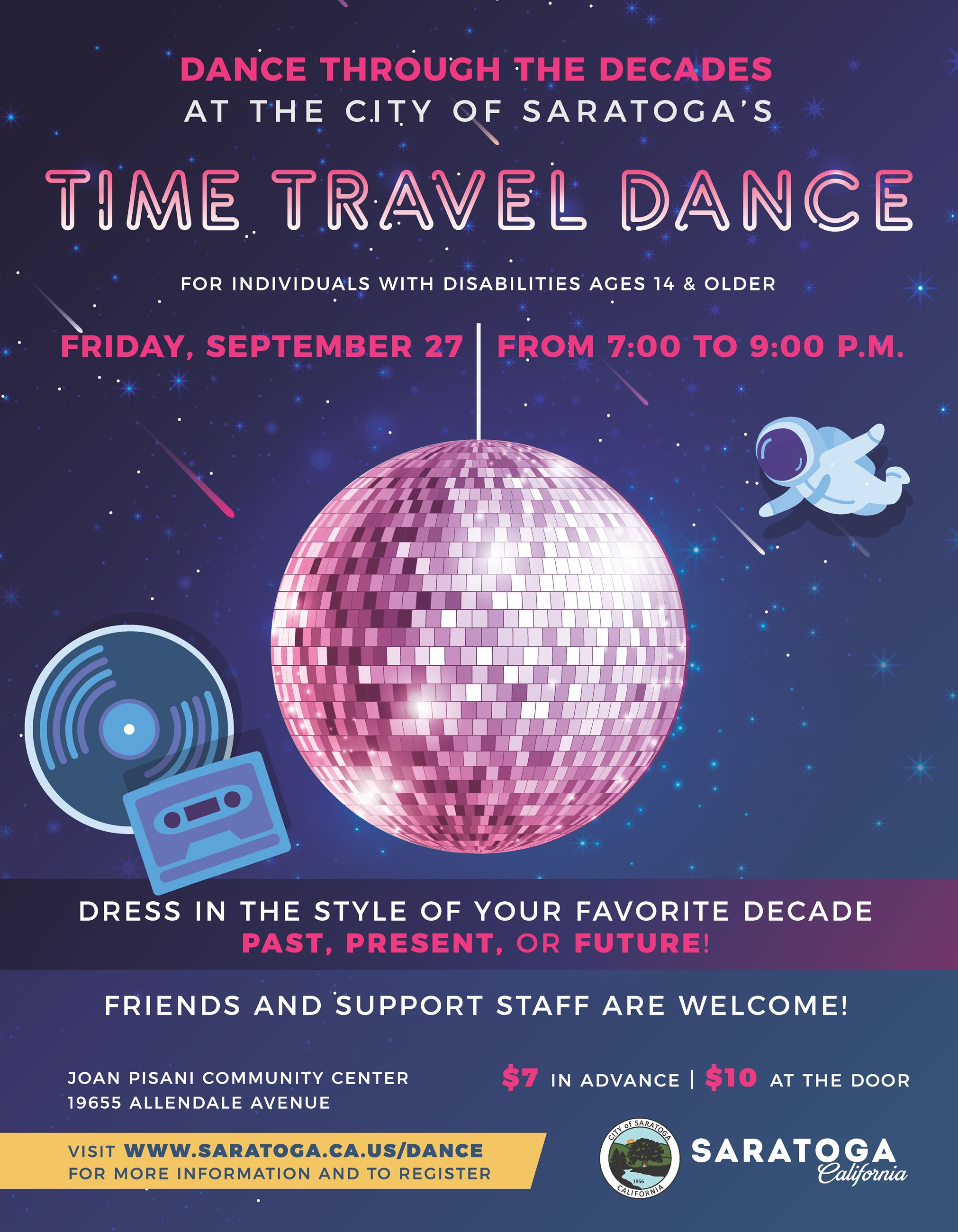 Time Travel Dance Flyer