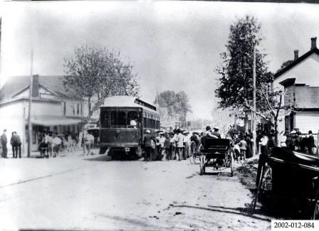Peninsular Interurban Railway on Lumber Street - 1906
