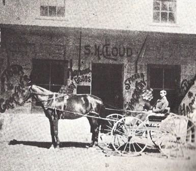 Sam Cloud in Front of SH Cloud Mercantile Store - 1890