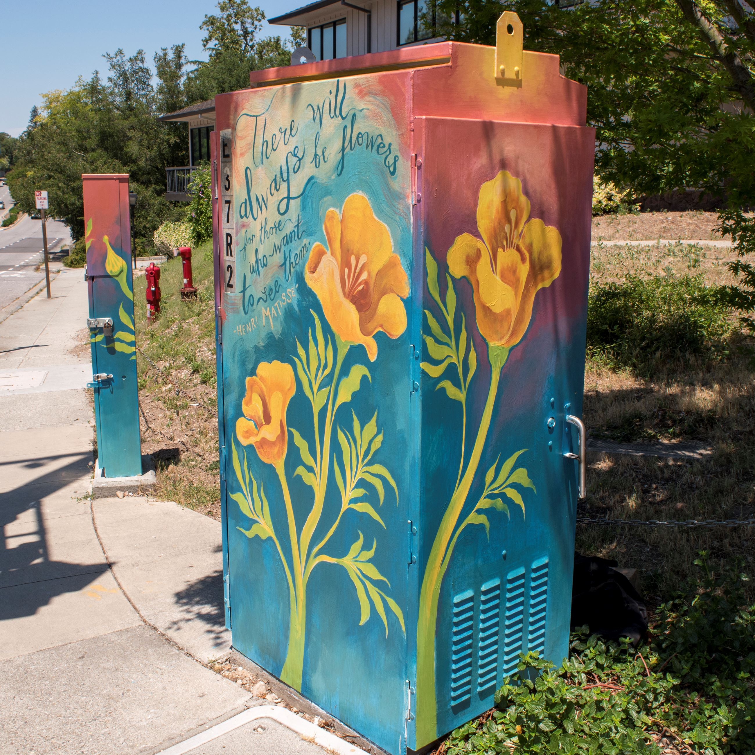 Paint the City Utility Box - Saratoga-Sunnyvale & Saratoga